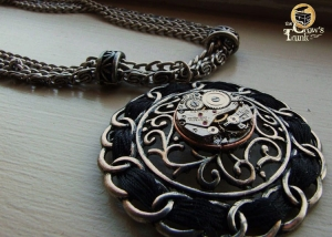 Celtic Times Hand-Wrapped Steampunk Necklace