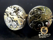 Jeweled Steampunk Cufflinks