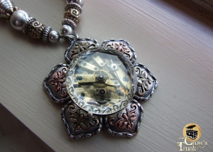 Lotus Blossom steampunk necklace